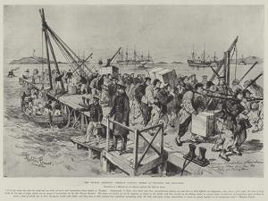 The Chinese Question, Germans Landing Stores at Tsingtan for Kiao-Chau by Melton Prior