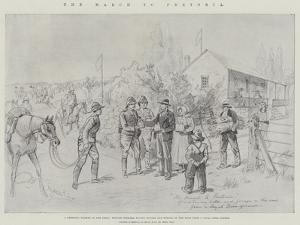 The March to Pretoria by Melton Prior