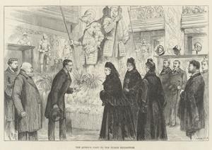 The Queen's Visit to the Tudor Exhibition by Melton Prior
