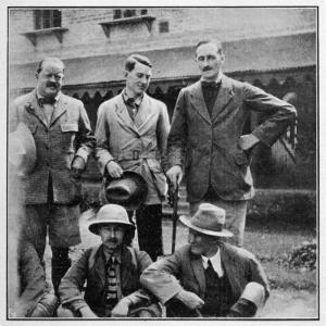 Members of the British Everest Expedition Pose for a Photograph