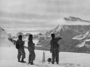 Members of the British Everest Expedition Survey the Mountains