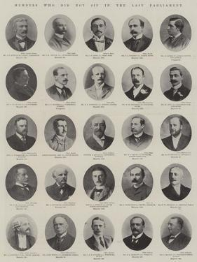 Members Who Did Not Sit in the Last Parliament