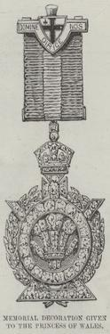 Memorial Decoration Given to the Princess of Wales at the Opening of the Tower Bridge