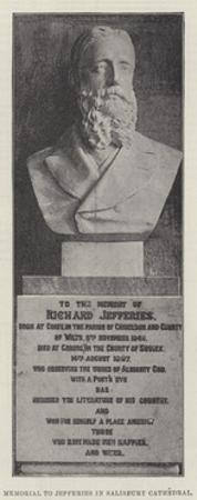Memorial to Jefferies in Salisbury Cathedral