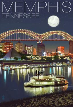 Memphis, Tennessee - Memphis Skyline at Night