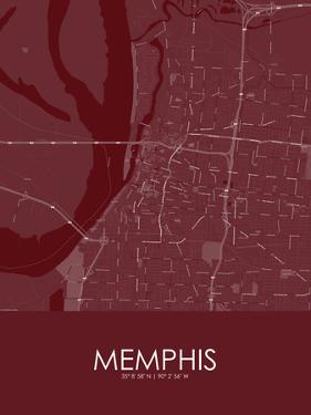 Memphis, United States of America Red Map