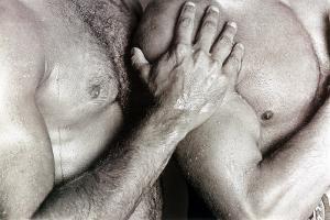 Men Embracing