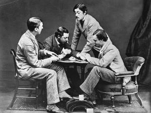 Men Playing Cards with Prince Leopold
