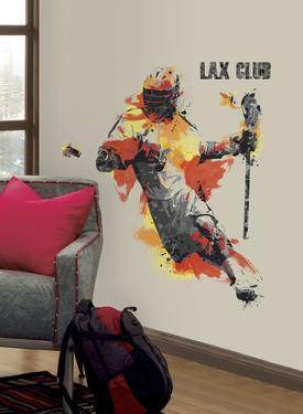 Men's Lacrosse Champion Peel and Stick Giant Wall Decal
