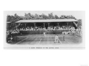Men's Singles Match on Centre Court at Wimbledon