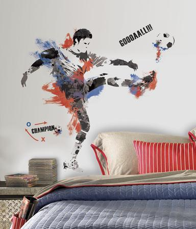 Menu0027s Soccer Champion Peel And Stick Giant Wall Decals