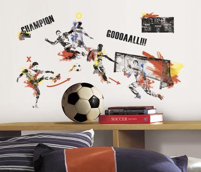 Menu0027s Soccer Champion Peel And Stick Wall Decals