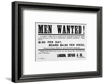 Men Wanted!--Framed Art Print
