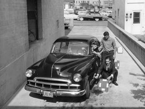 Men with a 1949 Customised Chevrolet, (C1949)