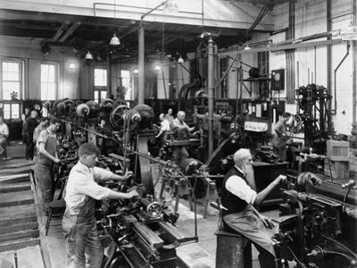 Men Working at Machines in the Government Printing Office, Washington, D.C