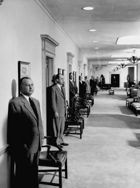 Men Working in the Republic National Bank