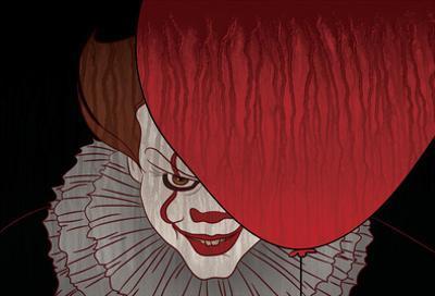 Menacing Clown With Balloon