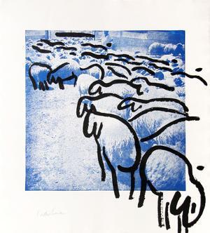 Sheep Portfolio 2 by Menashe Kadishman