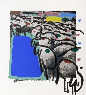 Sheep Portfolio 4 by Menashe Kadishman