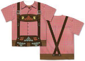 Mens Oktoberfest Costume Tee (Front/Back)