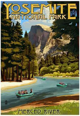 Merced River Rafting - Yosemite National Park, California