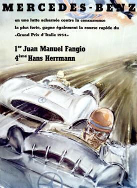 Mercedes Fangio Italian Grand Prix, c.1954
