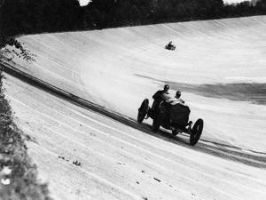 Mercedes on the Banking Near Members' Bridge, Brooklands, Surrey, 1920