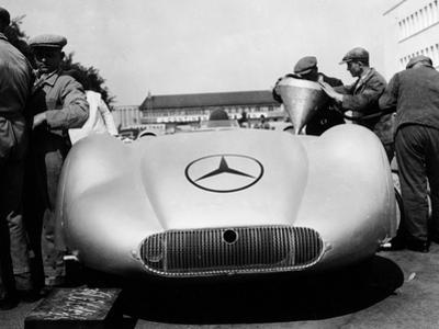 Mercedes Streamliner Car at Avus Motor Racing Circuit, Berlin, Germany, C1937