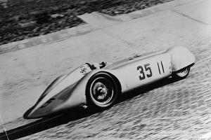 Mercedes Streamliner Car of Rudolf Caracciola in the Avusrennen Race, Berlin, Germany, 1937