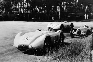 Mercedes Streamliner Cars Competing in the Avusrennen, Berlin, 1937