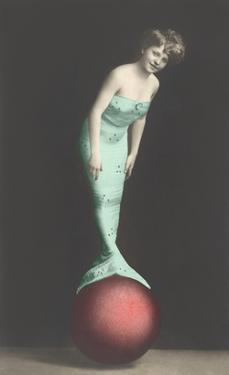 Mermaid Balanced on Ball