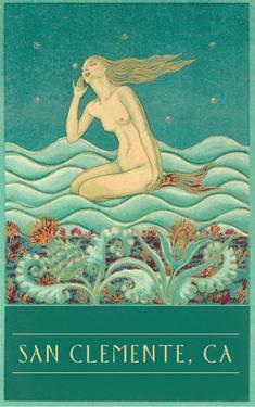 Mermaid Listening to Stars, San Clemente, California