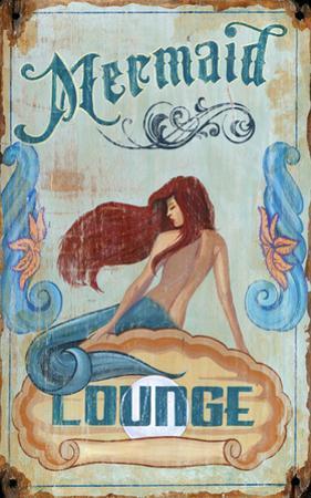 Mermaid Lounge Wood Sign