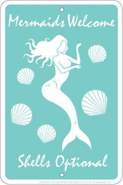 Mermaids Welcome Tin Sign