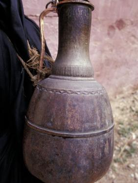 Copper Water Jug is Carried from Well to Homes, Morocco by Merrill Images