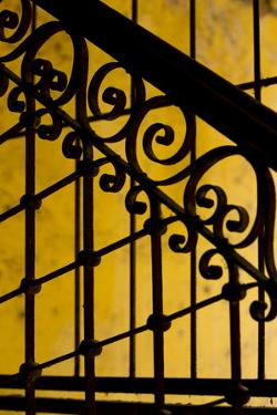 Cuba, Havana, Railing and Ironwork in Apartment by Merrill Images