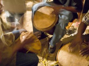 Drum Circle, Garifuna Settlement Day, Hopkins, Stann Creek District, Belize by Merrill Images