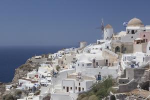 Greece, Santorini, Ia and Aegean Sea. by Merrill Images