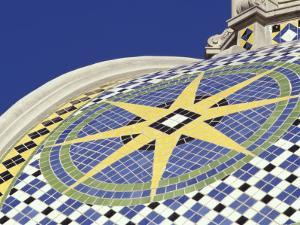 Starburst Tile Pattern on California Dome, Balboa Park, San Diego, California, USA by Merrill Images