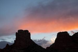 Usa, Arizona, Sedona. Buttes at sunset. by Merrill Images