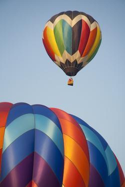 USA, Vermont, Quechee Hot Air Balloon festival. by Merrill Images