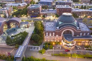 USA, Washington State, Tacoma. Union Station and Washington State History Museum. by Merrill Images