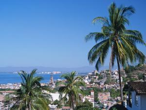 View of Downtown Puerto Vallarta and the Bay of Banderas, Mexico by Merrill Images