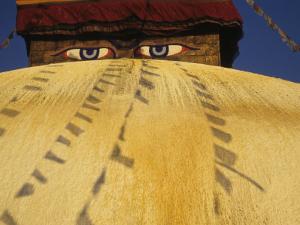 Watchful Eyes of Buddha From Bodhnath Stupa, Kathmandu, Nepal by Merrill Images