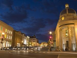 Wisconsin Avenue at Dusk, Georgetown, Washington D.C., USA by Merrill Images