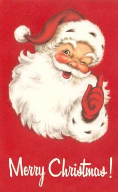 Merry Christmas. Winking Santa Claus