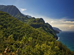 Na Pali Coast, as Seen from the Kalalau Trail by Merten Snijders