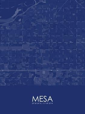 Mesa, United States of America Blue Map