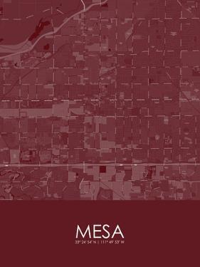Mesa, United States of America Red Map