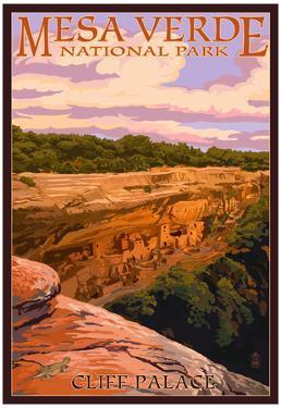 Mesa Verde National Park, Colorado - Cliff Palace at Sunset